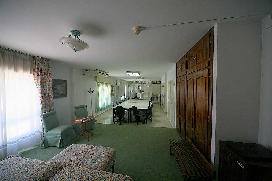 Visión parcial del aula de alojamientos.