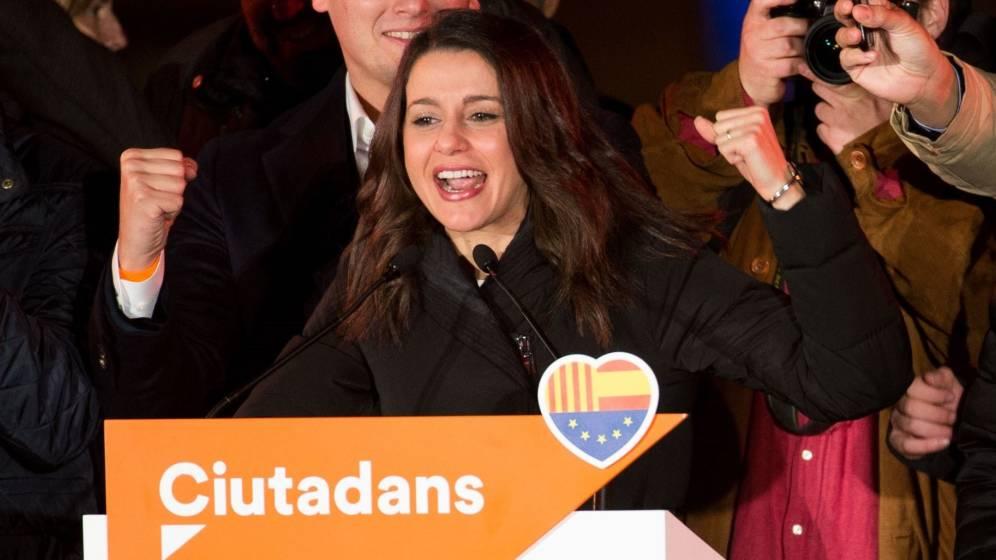 Inés Arrimadas ganando las elecciones